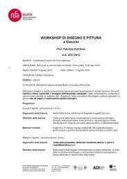 WORKSHOP DI DISEGNO E PITTURA a Greccio - RUFA
