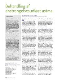 Behandling af anstrengelsesudløst astma