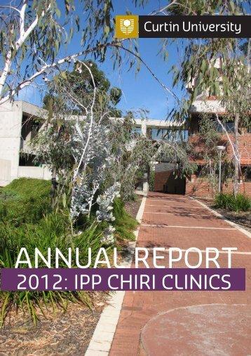 Curtin Interprofessional Education Clinics Report 2012.pdf - Health ...