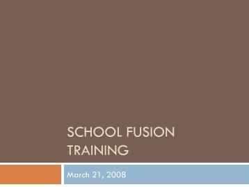 School Fusion Training - Pickens Instructional Technology - Website