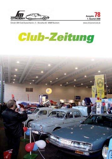 Clubzeitung Nr_78.indd - Citroen-SM-Club Deutschland e.V.