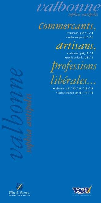 professions libérales... - Office de Tourisme Valbonne