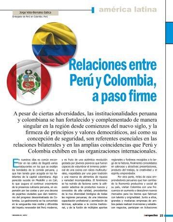 Relaciones entre Perú y Colombia, a paso firme - Revista Perspectiva