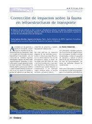 Corrección de impactos sobre la fauna en infraestructuras de ...