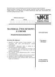 Chemia Arkusz PR Materiał ćwiczeniowy 2012 - Polska