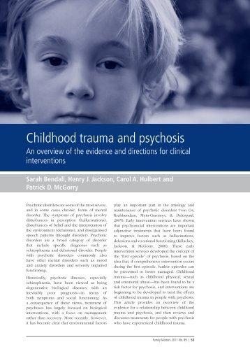 childhood trauma and psychosis 2011