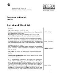 Anaconda in English Jobs Script and Word list - Ur
