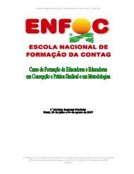 caderno de textos - i modulo curso nordeste enfoc/2007 - Contag