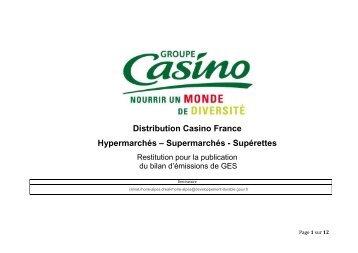 Supermarchés - Supérettes - Groupe Casino