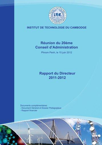 Le Rapport du directeur - ITC
