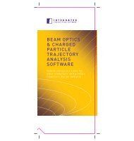 Beam Optics & Charged Particle Trajectory Analysis brochure