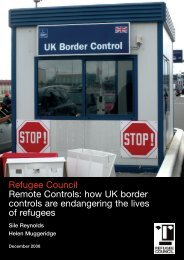 Refugee Council Remote Controls: how UK border controls are ...