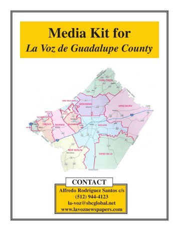 La Voz Newspapers Media Kit Seguin Texas.pmd