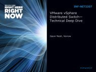NET2207: VMware vSphere Distributed Switch—Technical Deep Dive