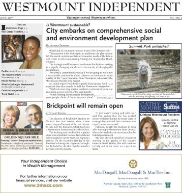 ayout 1 - Westmount Independent