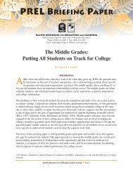 Middle Grades.Putting All Students on Track for College - Ensuring ...