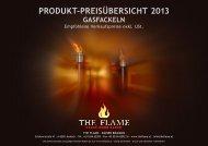 Preisliste Gasfackeln - The Flame