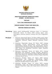 peraturan menteri pekerjaan umum nomor : 04/prt/m/2012 tentang ...