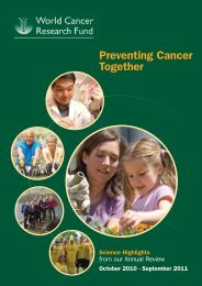 Annual Review 2010-11 - World Cancer Research Fund