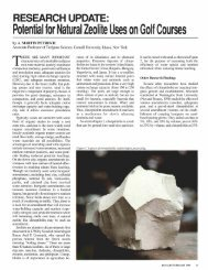 Potential for Natural Zeolite Uses on Golf Courses - Zeolite Products