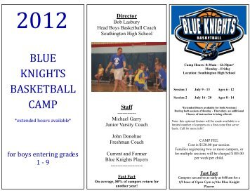 summer 2012 camp application and - Southington Public Schools