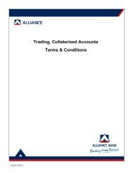Trading, Collaterised Accounts Terms & Conditions - Alliance Bank ...