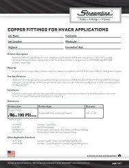 Copper TUBe for HVACr AppliCATions - Mueller Industries