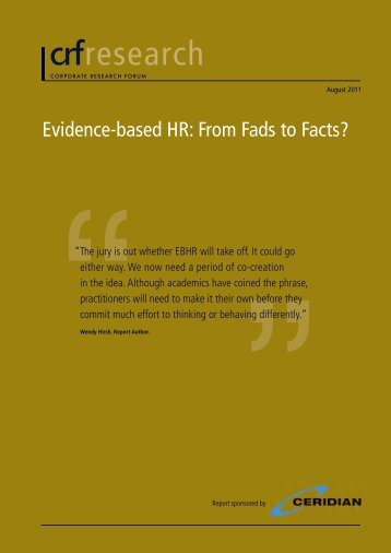 research - Center for Evidence-Based Management