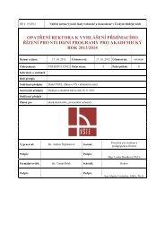 Opatření - Přijímací řízení pro AR 2013 / 2014 - Vysoká škola ...