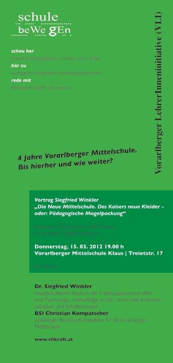 V orarlberger LehrerInneninitiative (VLI) - Unabhängige ...