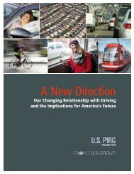 A New Direction: Our Changing Relationship with Driving ... - US PIRG