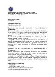 Fiscalidade - Universidade Católica Portuguesa