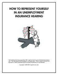 Unemployment Insurance Hearing Handbook Final - MFY Legal ...
