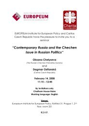 """Contemporary Russia and the Chechen Issue in Russian Politics"""