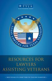 Resources for Lawyers Assisting Veterans - State Bar of Texas