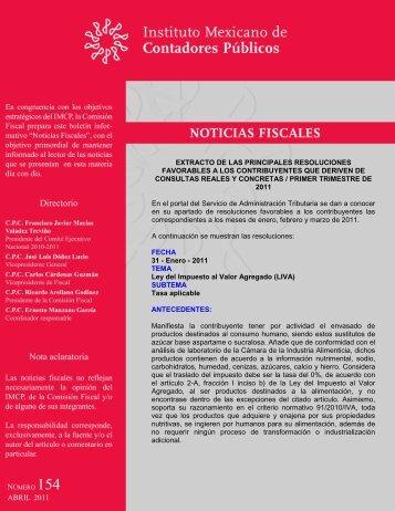 Noticias Fiscales 154