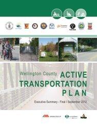 ACTIVE TRANSPORTATION PLAN - County of Wellington