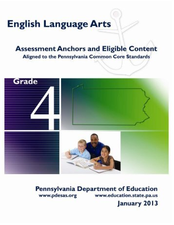 Grade 4 English Language Arts Assessment Anchors and Eligible ...