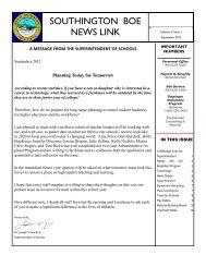 September 2012 - Southington Public Schools