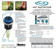 MP Rotator® Performance Card - Hunter Industries