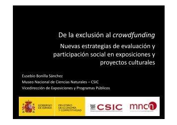 """Eusebio Bonilla_De la exclusión al crowdfunding - Obra Social """"la ..."""