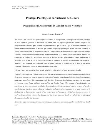 Peritajes Psicológicos en Violencia de Género - Universidad de ...