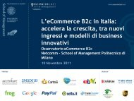 L'eCommerce B2c in Italia - Daniele Lepido I bastioni di Orione