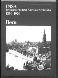 INSA Inventar der neueren Schweizer Architektur 1850 ... - DigiBern