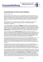 Pressemitteilung vom 23. Januar 2012 (Taifun auf den Philippinen ...
