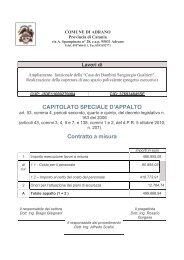 CAPITOLATO SPECIALE D'APPALTO Contratto a misura