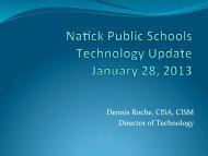 January 28, 2013 - Natick Public Schools