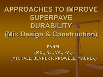 Approaches to Improve Superpave Durability (Mix Design ... - neaupg