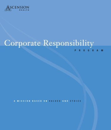 READ MORE HERE - Corporate Responsibility Brochure