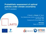 Optimal Climate Policies under the 2°C Constraint Using a ...